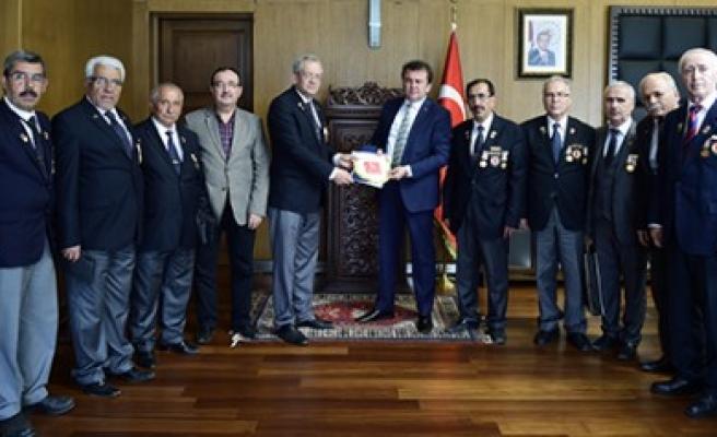 Muharip Gazileri Derneği'nden Başkan Erkoç'a Ziyaret