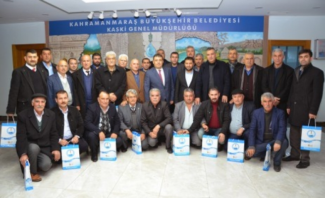 Onikişubat Muhtarlar Derneğinden KASKİ'ye Ziyaret
