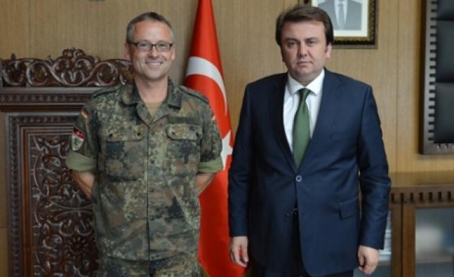 Patriot Komutanı Drexler'den Erkoç'a Ziyaret