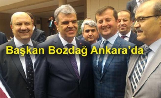 Pazarcık Belediye Başkanı Bozdağ Ankara'da