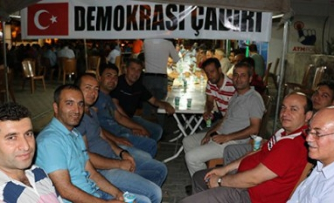 """Pazarcık, """"Demokrasi Çadırı""""nda Nöbette"""