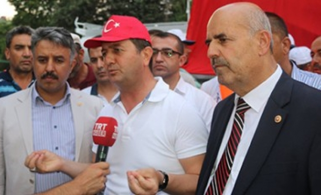 Pazarcık'ta Demokrasi Nöbetleri Taçlandırıldı