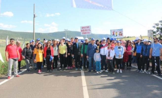 Pazarcık'ta Doğa Yürüyüşü Düzenlendi