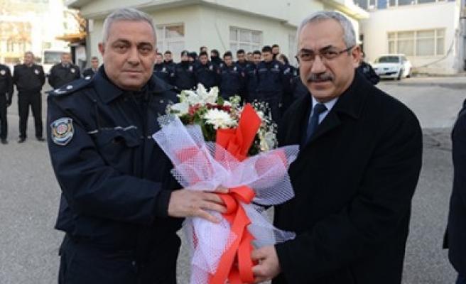 Rektör Deveci'den Çevik Kuvvet Şube Müdürlüğüne Taziye Ziyareti
