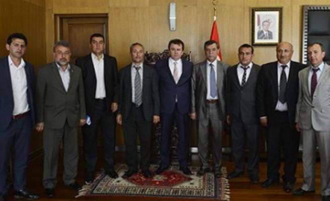 Yeni Muhtarlardan Başkan Erkoç'a Ziyaret