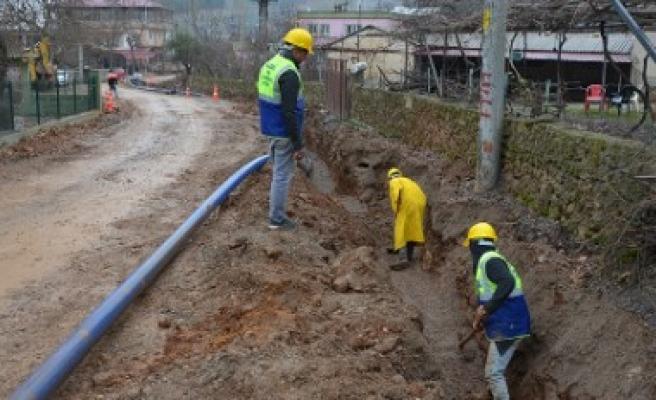 Yeşilyöre'de Alt Yapı Çalışmaları Çift Koldan Devam Ediyor