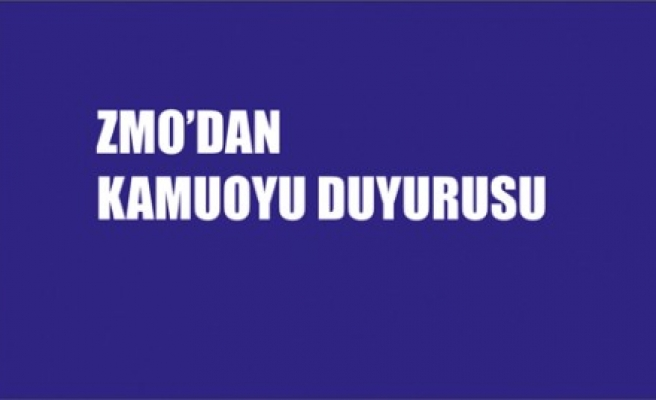 ZMO'dan Kamuoyu Duyurusu