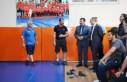 Vali Özkan, Batıpark Spor Kompleksinde İncelemelerde...