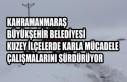 Büyükşehir Kuzey İlçelerde Karla Mücadele Çalışmalarını...