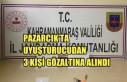 Pazarcık'ta Uyuşturucudan 3 Kişi Gözaltına...
