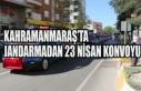 Kahramanmaraş'ta Jandarmadan 23 Nisan Konvoyu