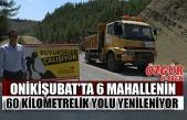 Onikişubat'ta 6 Mahallenin 60 Kilometrelik Yolu Yenileniyor
