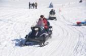 Yedikuyular Kayak Merkezinde Güneşin Keyfini Çıkardılar