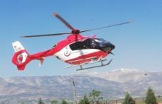 Ambulans Helikopter Yaşlı Adam İçin Havalandı