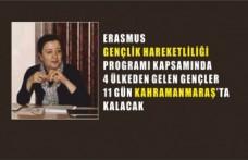 Erasmus Gençlik Hareketliliği Kahramanmaraş'ı Hareketlendirecek