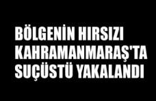 Bölgenin Hırsızı Kahramanmaraş'ta Suçüstü Yakalandı