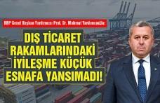 Prof. Dr. Yardımcıoğlu: Dış Ticaret Rakamlarındaki İyileşme Küçük Esnafa Yansımadı