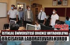 İstiklal Üniversitesi Erkenez Ortaokulu'na Bilgisayar Laboratuvarı Kurdu