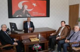 KSÜ Rektörü Can; Pazarcık Kaymakamı Nas ve Başkan...