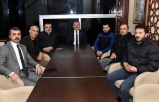 Başkan Aydın İlk Toplantısını Basın Mensupları...