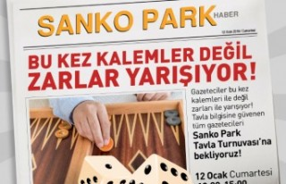 SANKO Park'tan Gazetecilere Özel Ödüllü Tavla...