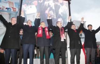 AK Parti Elbistan Seçim Bürosuna Görkemli Açılış