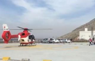 Ambulans Helikopter Beyin Ödemi Oluşan Kişi İçin...