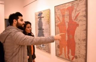 Prof. Dr. Koçan'ın SANKO Sanat Galerisi'ndeki...