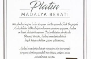 Türk Kızılayı'ndan SANKO'ya Platin Madalya