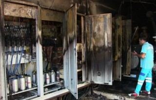 Elbistan'da Su Terfi Merkezinde Yangın