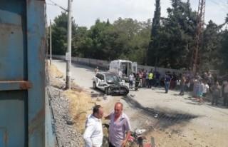 Kahramanmaraş'ta Yük Treni İle Otomobil Çarpıştı