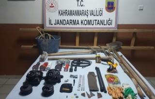 Andırın'da Define Avcısı 5 Kişi Yakalandı