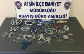 Afşin'de Otomobil Amblemleri Çalan 2 Şüpheli...