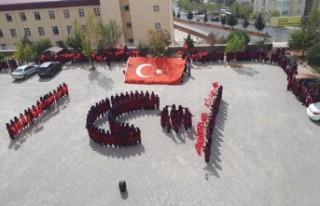 Öğrencilerden Mehmetçiğe Ay Yıldızlı Destek