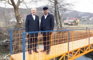 Andırın'daki Yaya Köprüsü Yenilendi
