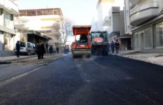 Pazarcık'ta Sıcak Asfalt Çalışmaları Devam...