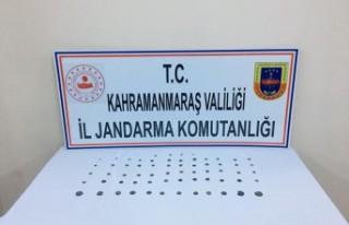 Kahramanmaraş'ta 64 Sikke Ele Geçirildi