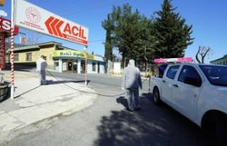 Hastaneler Bölgesi Dezenfekte Edildi