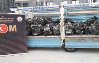 Kahramanmaraş'ta 40 Adet Kaçak Otomobil Motoru...