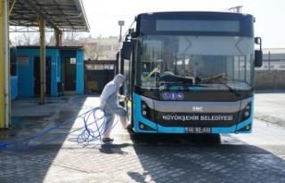 Toplu Taşıma Araçları Dezenfekte Edildi