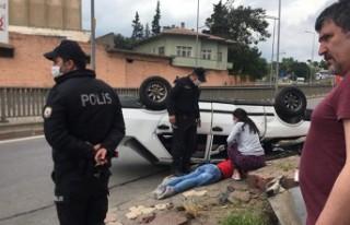 Kahramanmaraş'ta Feci Kaza, Otomobil Takla Attı