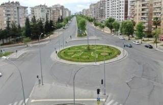 Kahramanmaraş'ta Boşalan Cadde ve Sokaklar Drone...