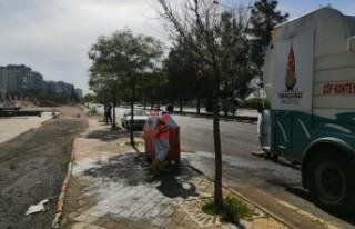 Onikişubat Belediyesinden Çöp Konteynerlerine Hijyen