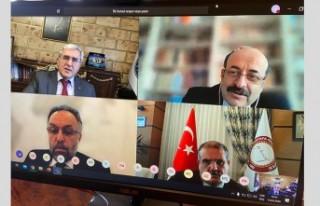 Rektör Can, YÖK Başkanı Saraç İle Video Konferansla...