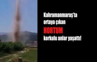 Kahramanmaraş'ta Görünen Hortum Korkuttu