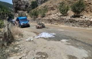 Kahramanmaraş'ta Sepetli Motosiklet Devrildi,...
