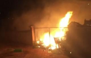 Kahramanmaraş'ta Market Deposunda Yangın