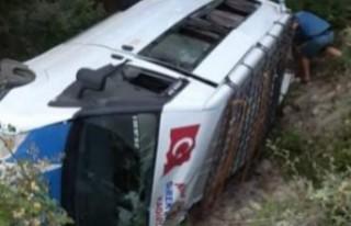 Kahramanmaraş'ta Yolcu Minibüsü Devrildi, Yaralılar...