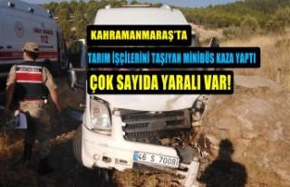 Tarım İşçilerini Taşıyan Minibüs Kaza Yaptı