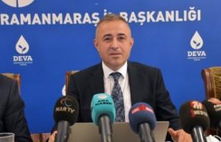 DEVA Partisi Kahramanmaraş İl Başkanı Karatutlu,...